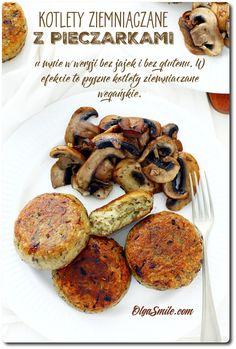 Vegan balls with potatoes and mushrooms - Vegan balls with potatoes - Vegan balls with mushrooms Eat Happy, Polish Recipes, Food Design, Finger Foods, Side Dishes, Vegan Recipes, Clean Eating, Stuffed Mushrooms, Good Food