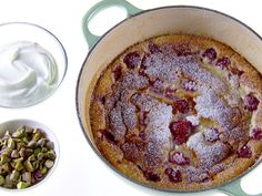 Raspberry Clafoutis recipe from Giada De Laurentiis via Food Network