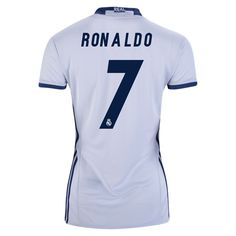 2016 Cristiano Ronaldo Jersey Number 7 Home Women s Real Madrid Team Equipo Real  Madrid ea0843c4ab3d7