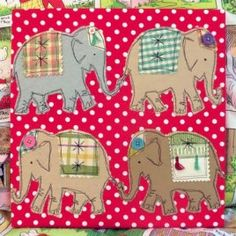 Free pattern: Marching Elephants applique template · Sewing | CraftGossip.com