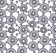 lovely doodled pattern by Hitomi Kimura