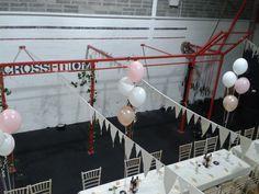 Transforming the Box into a dream CrossFit wedding venue!