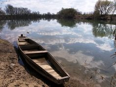 Karlovac - Old wooden boat on Kupa river