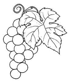 São 100 desenhos de frutas para você colorir! São desenhos de manga para pintar, maçã para colorir, uva para pintar, coco...