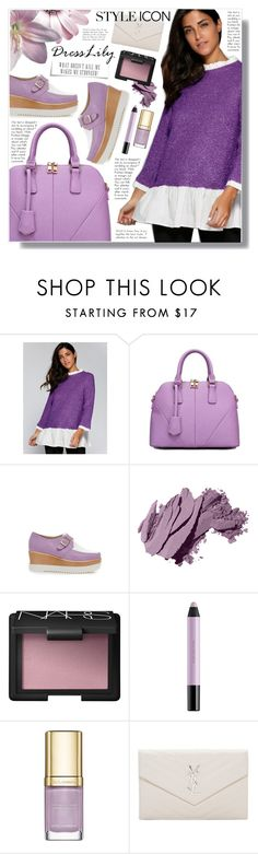"""Dresslily"" by becky12 ❤ liked on Polyvore featuring Bobbi Brown Cosmetics, NARS Cosmetics, shu uemura, Dolce&Gabbana and Yves Saint Laurent"