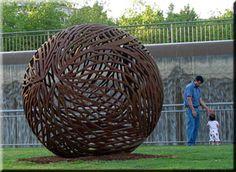 galleries of works    metall spheres    2 -