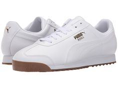 70294f943 PUMA Roma Basic Mens Puma Shoes, Puma Sneakers, White Shoes Men, Pumas Shoes