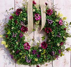 Spring Wreaths Summer Wreath PURPLE FLORAL par DesigningCreations