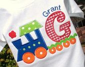 train and initial applique