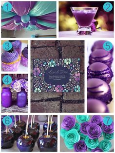 purple baby shower ideas by Oubly