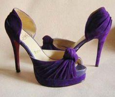 Gorgeous purple shoes
