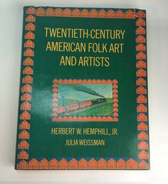Vintage #Art Book Twentieth Century American #FolkArt and Artists Book 1974 History Reference Americana Free US Shipping Soaring Hawk Vintage from on #Etsy #arthistory #americana