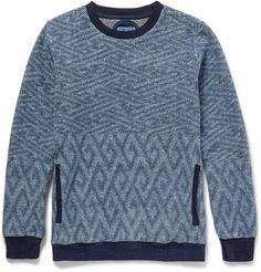 Blue Blue Japan Jacquard-Knit Cotton-Fleece Sweater | MR PORTER