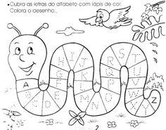 atividades de alfabetização - alfabeto para colorir