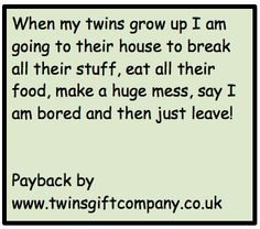 True life with twins by www.twinsgiftcompany.co.uk