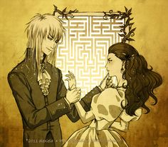 Labyrinth: Jareth and Sarah by *alexielart on deviantART