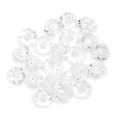 6mm Crystal Clear Faceted Plastic Rondelle Beads: Value Pack