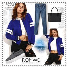 """ROMWE JACKET"" by lejla150 ❤ liked on Polyvore"