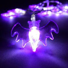 Halloween Lichterkette 12LED inkl Batterie Kürbis Totenkopf Fledermaus Gespenst | eBay