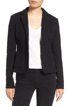 JAMES PERSE Crop French Terry Blazer. #jamesperse #cloth #