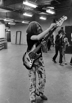 http://custard-pie.com/ John Paul Jones, one of the most talented bassists  Cool pants, John