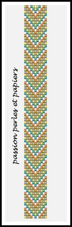 chevrons multicolores