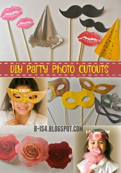 DIY Party Photo Cutouts - great idea for photo booths, weddings, bridal showers, birthday parties and more!