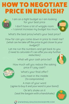 to negotiate price in English - What's your final offer? How to Negotiate Price in English. Useful English Phrases to help you negotiate price in English.How to Negotiate Price in English. Useful English Phrases to help you negotiate price in English. English Idioms, English Phrases, Learn English Words, English Writing, English Study, English Lessons, English Grammar, Fluent English, French Lessons
