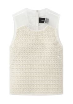 Simone Rocha  / Knit Top with Tulle Layer