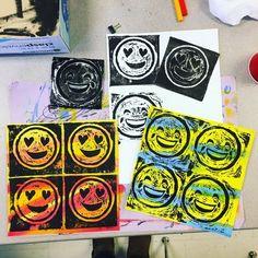 Printmaking emojis