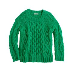 Girls' cable popcorn sweater