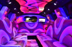 Pink SUV Hummer Interior  http://www.usbargainlimo.com/party-bus.html