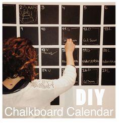 #DIYChalkboardCalendar