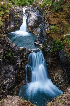 [ Image Source ] Little Qualicum Falls Provincial Park is a provincial park in British Columbia, Canada, on central Vancouver Island, t. British Columbia, Landscape Photos, Landscape Photography, Travel Photography, Rocky Mountains, Beautiful World, Beautiful Places, Places To Travel, Places To Visit