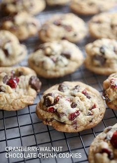 Cranberry Walnut Chocolate Chunk Cookies by Bakerella, via Flickr