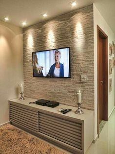 Trendy Living Room Tv Wall Ideas Classic - Home Decor Living Room Tv, Home And Living, Modern Living, Wall Design, House Design, Interior Decorating, Interior Design, Decorating Ideas, Modern Interior