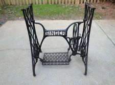 I will have this eventually... Vtg Antique Singer Treadle Sewing Machine Cast Iron Base Table Top Frame Stand