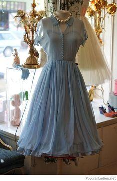 Very nice navy dress vintage design. Vintage Prom Dresses1950s ... db1933c221da