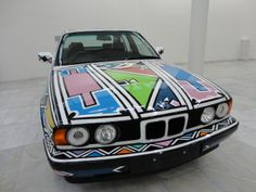 BMW Art Cars Exhibition. The BMW 525i (1991), by Ester Mahlangu http://northernfjords.com/2012/10/01/the-stavanger-art-museum-cars-and-paintings/