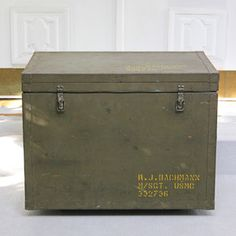 Metal Military Trunk now featured on Fab.