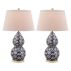 Crosshatch Table Lamp (Set of 2)