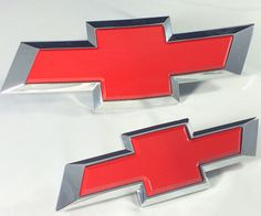 Cruze Insert Victory Red Front & Rear Bowtie Emblem Kit