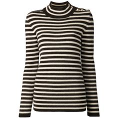 Bouchra Jarrar Striped Turtleneck Sweater (22.585 RUB) ❤ liked on Polyvore featuring tops, sweaters, turtleneck, kirna zabete, sale, stripe top, striped wool sweater, striped turtleneck sweaters, striped turtleneck top and ribbed sweater