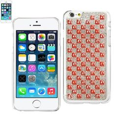 $10.99 Reiko Jewelry Pyramid Pearl Studs Case For Apple iPhone 6 Plus 5.5inch