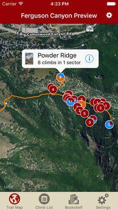 Ferguson Canyon updated with 8 new routes on Powder Ridge. #fergusoncanyon #rakkupguidebookupdates #rakkup
