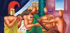 Νίκος Εγγονόπουλος στην Άνδρο: με τα χρώματα του λόγου και το λόγο των χρωμάτων