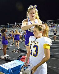 """Love it!!! Erin DiMeglio is believed to be the first girl to play quarterback in a Florida high school football game. """"My friends all think I'm crazy,"""" DiMeglio said. """"But they also think it's pretty cool."""""""