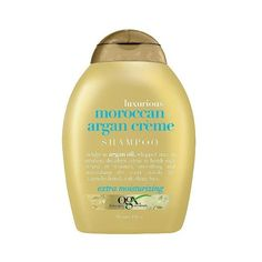 OGX Moroccan Argan Creme Shampoo -  oz ($7.99) ❤ liked on Polyvore featuring beauty products, haircare, hair shampoo, hair, organix, organix hair shampoo und organix hair care