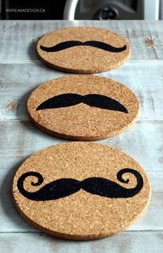 How to stencil cork coasters to customize!