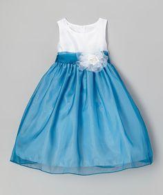 Love this Princess Diaries Blue & White Flower Babydoll Dress